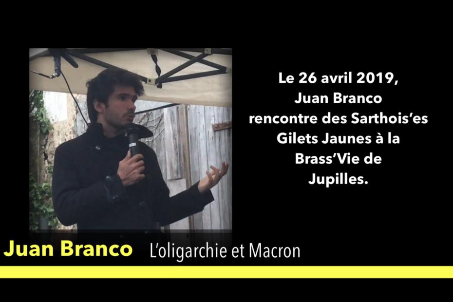 Rencontre entre Juan Branco et des gilets jaunes sarthois