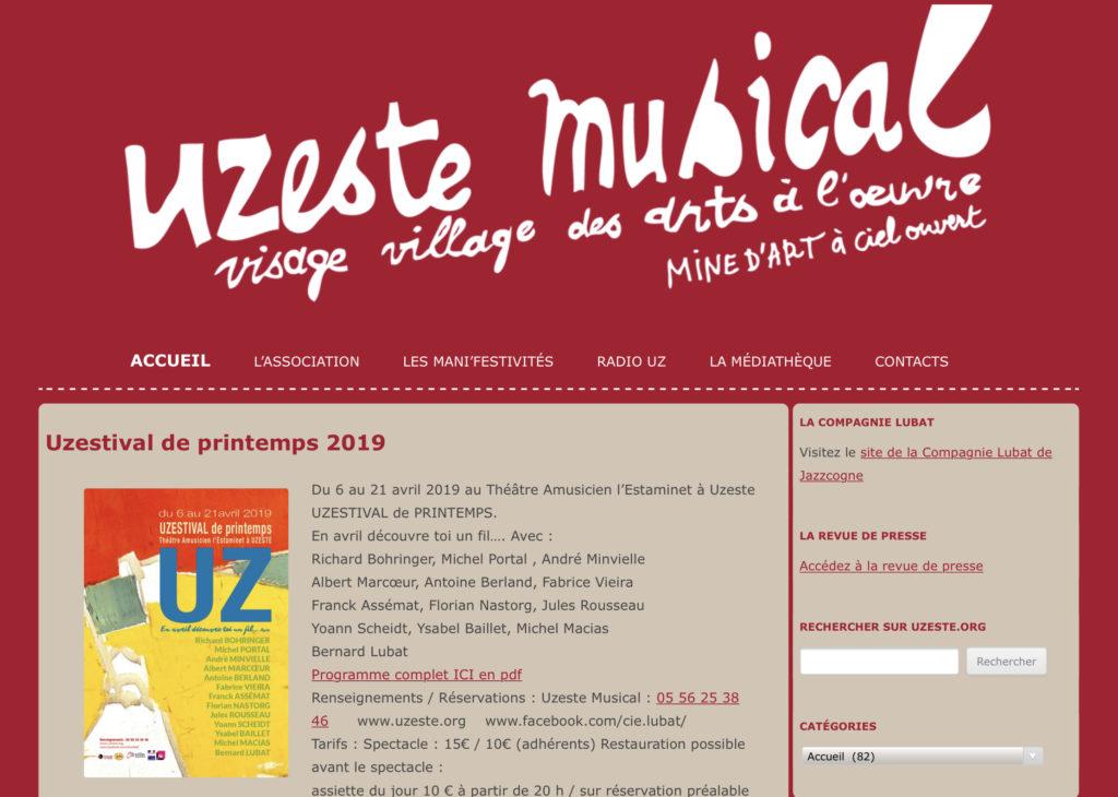 Création du site UZESTE.org