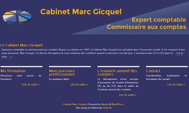Création du site de Marc Gicquel